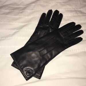 Black Coach Leather gloves